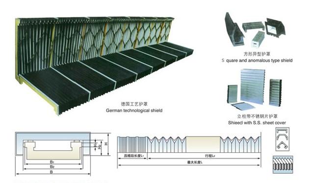 柔性风琴式导轨防护罩1